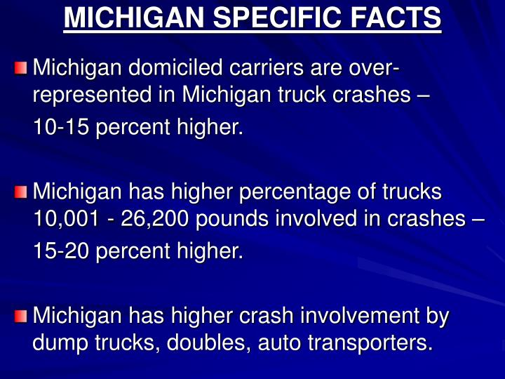 MICHIGAN SPECIFIC FACTS