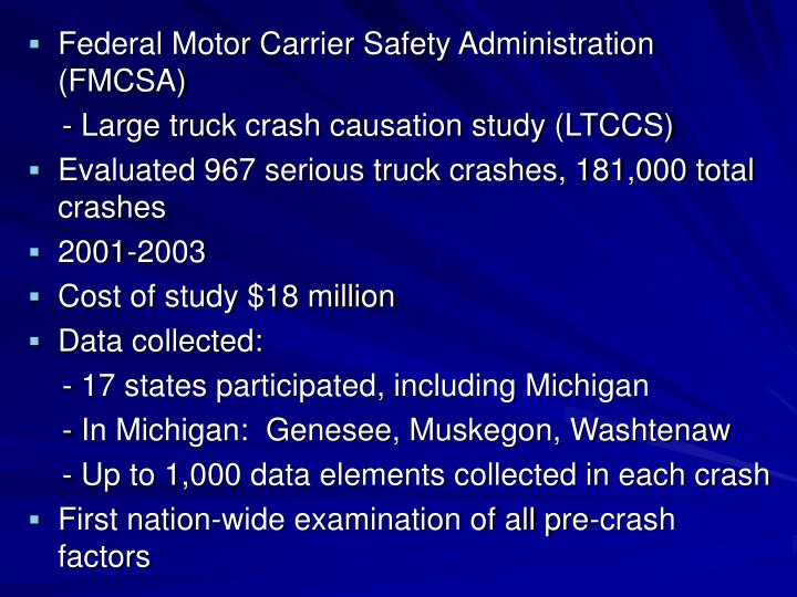 Federal Motor Carrier Safety Administration (FMCSA)