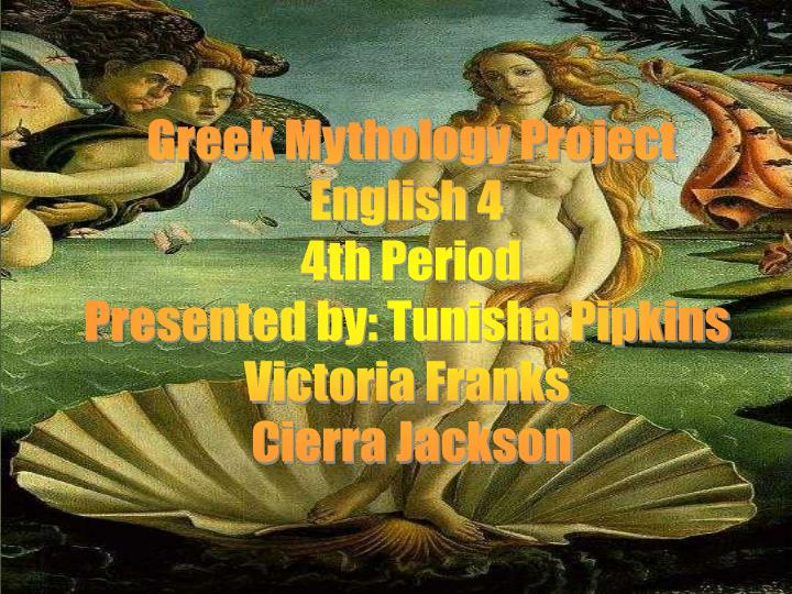 Greek Mythology Project