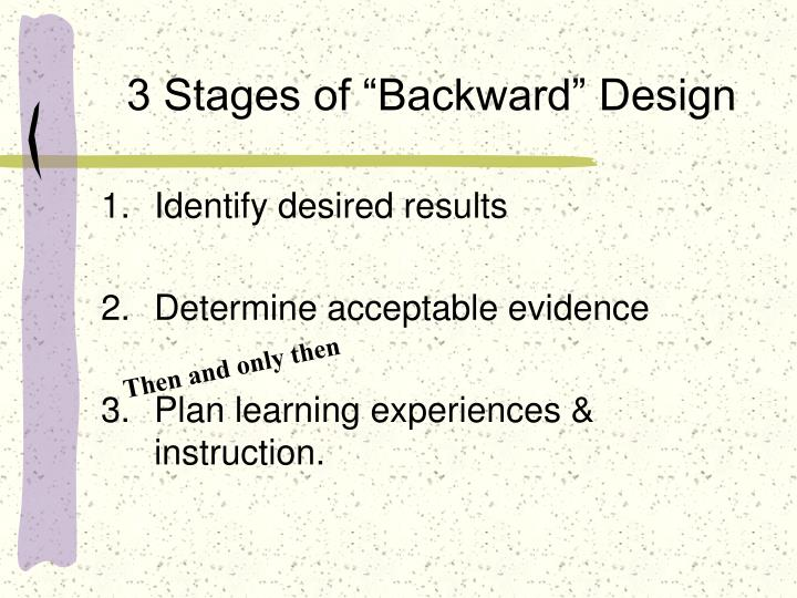 "3 Stages of ""Backward"" Design"