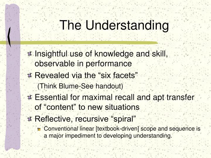 The Understanding