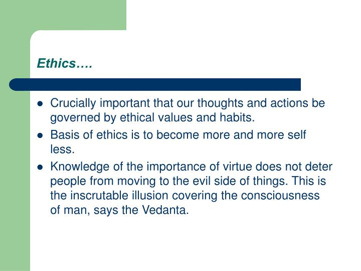 Ethics….