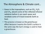 the atmosphere climate cont