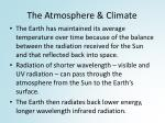 the atmosphere climate