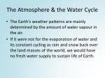 the atmosphere the water cycle