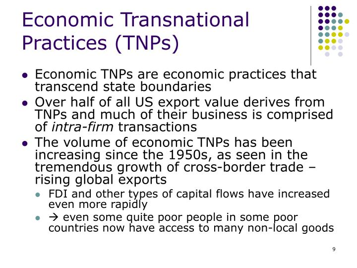 Economic Transnational Practices (TNPs)