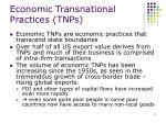 economic transnational practices tnps