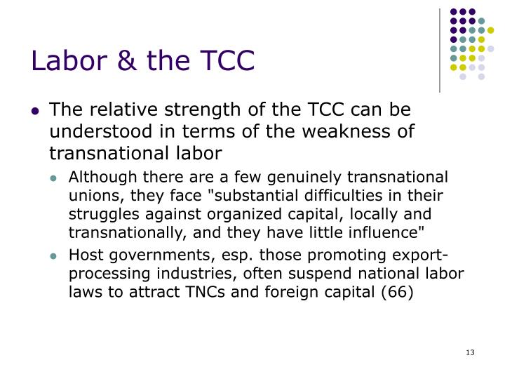 Labor & the TCC
