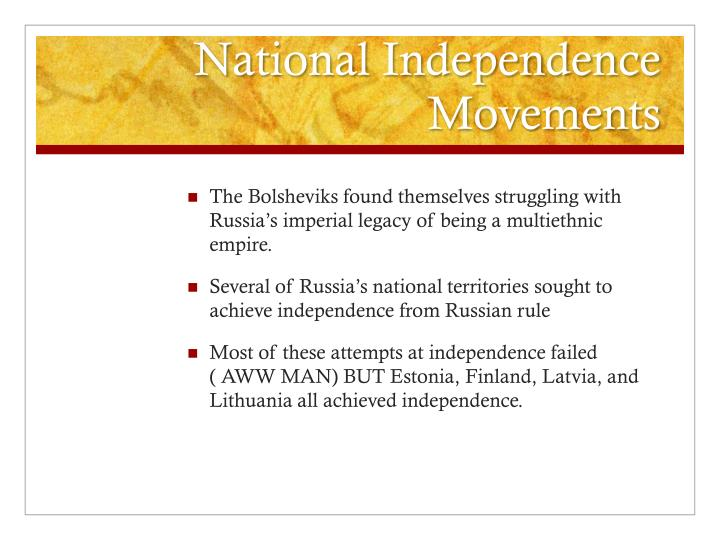 National Independence Movements