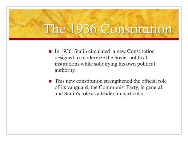 The 1936 Constitution
