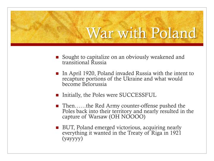 War with Poland