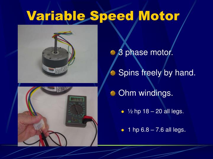 Ppt troubleshooting variable speed powerpoint for 1 8 hp electric motor variable speed
