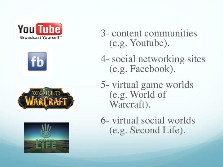 3- content communities (e.g.
