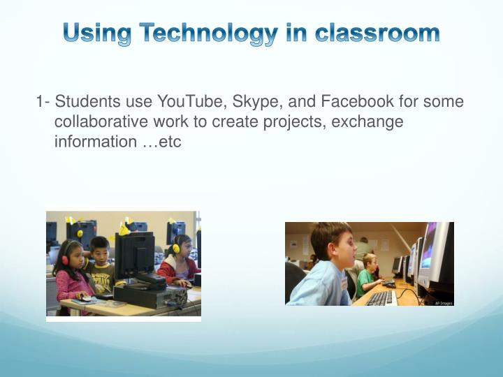 Using Technology in classroom