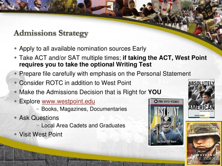 West point admissions essay
