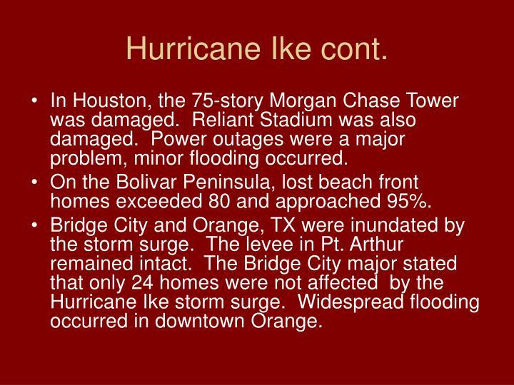 Hurricane Ike cont.