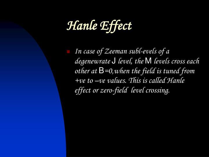 Hanle Effect