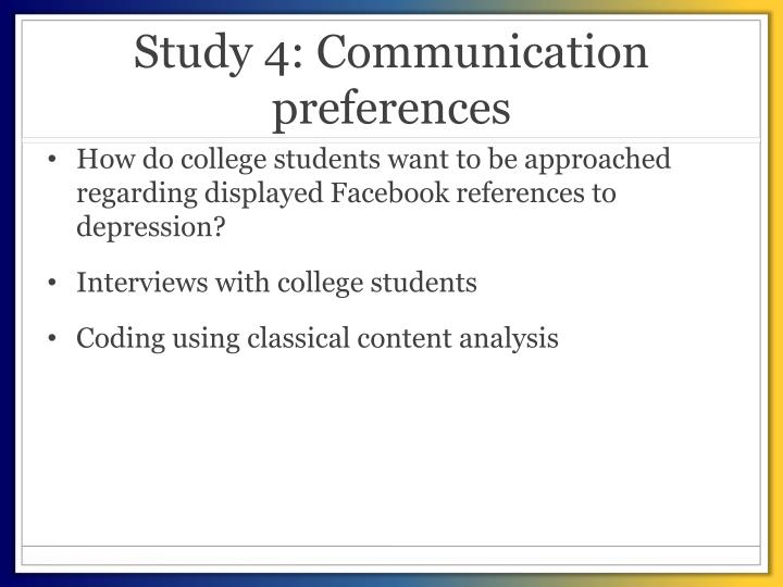 Study 4: Communication preferences