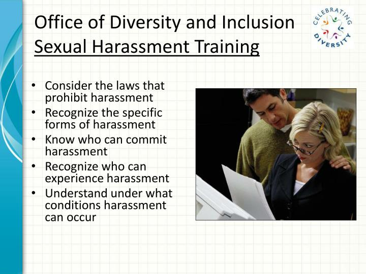 the issue of sexual harassment in the united states Expert: sexual assault is not a gender issue by nick duke  and company command teams about achieving cultural change to eliminate sexual harassment and assaults.