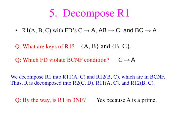 5.  Decompose R1