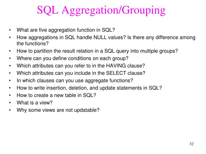SQL Aggregation/Grouping