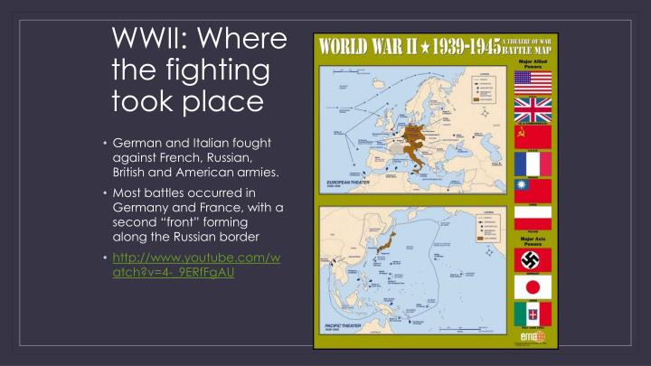 WWII: Where the fighting took place