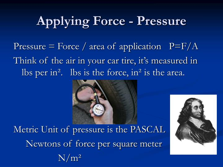 Applying Force - Pressure