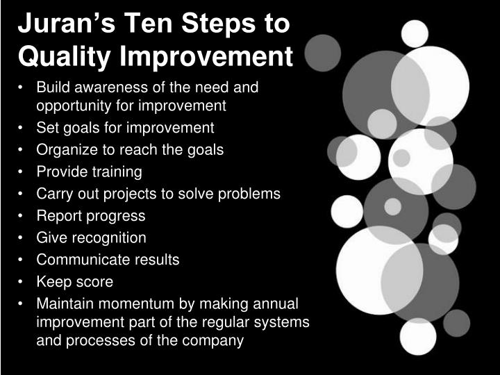 Juran's Ten Steps to Quality Improvement