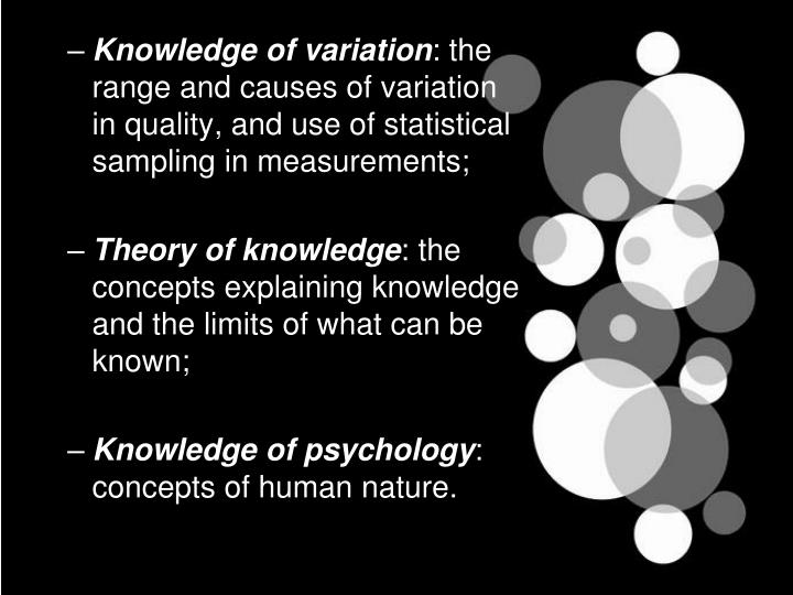 Knowledge of variation