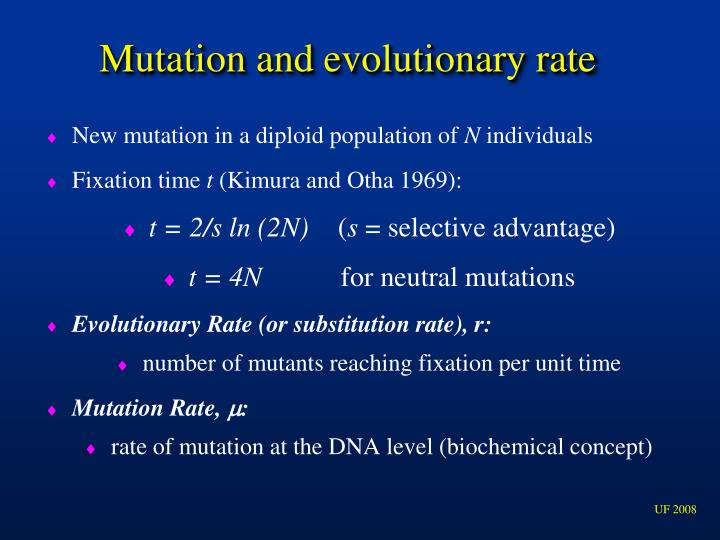 Mutation and evolutionary rate