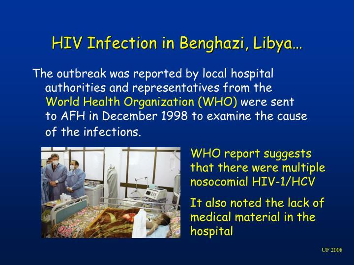 HIV Infection in Benghazi, Libya…