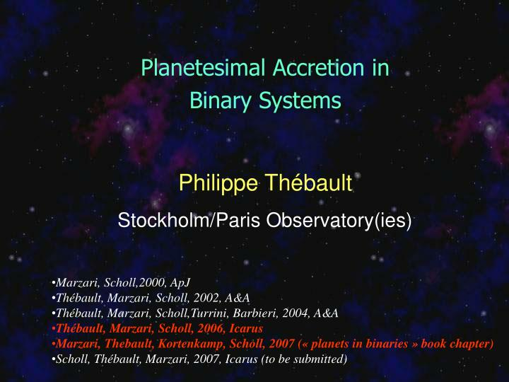 Planetesimal Accretion in