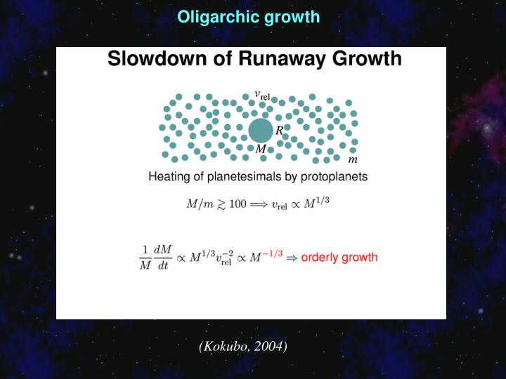 Oligarchic growth