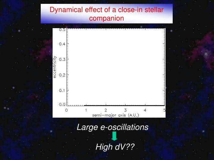 Dynamical effect of a close-in stellar companion