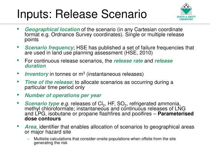Inputs: Release Scenario