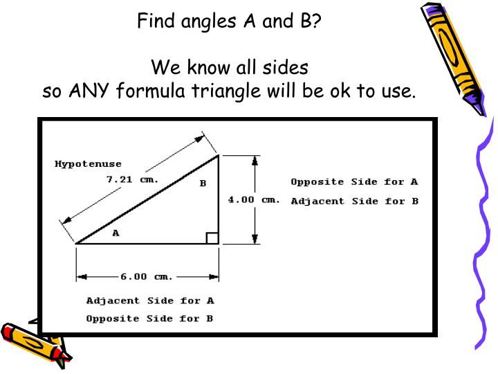 Find angles A and B?