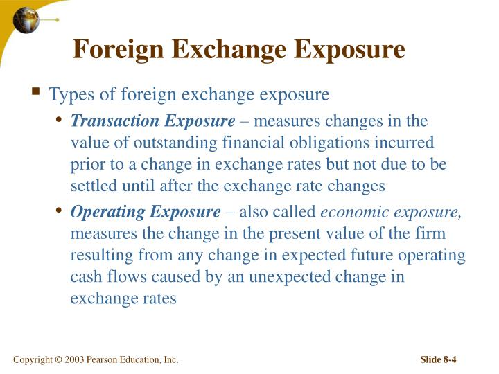 exchange rate and operating exposure