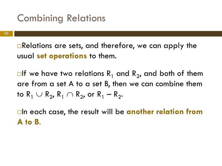 Combining Relations