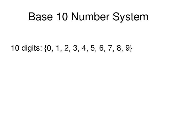Base 10 Number System