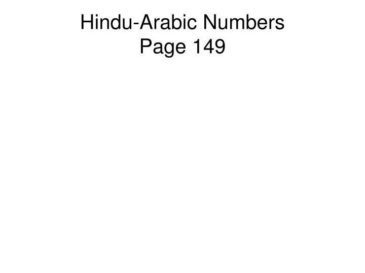 Hindu-Arabic Numbers