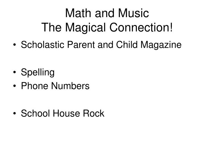 Math and Music