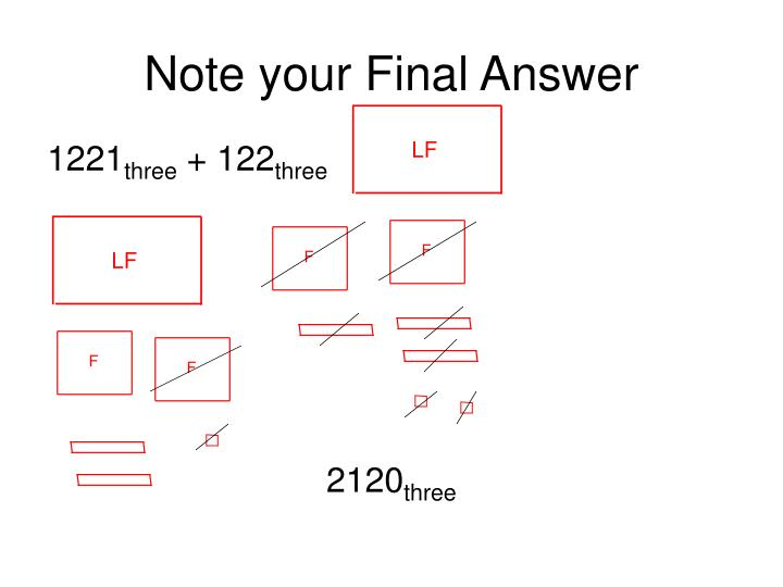Note your Final Answer