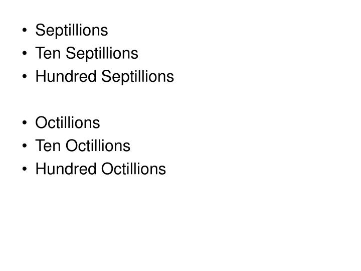 Septillions