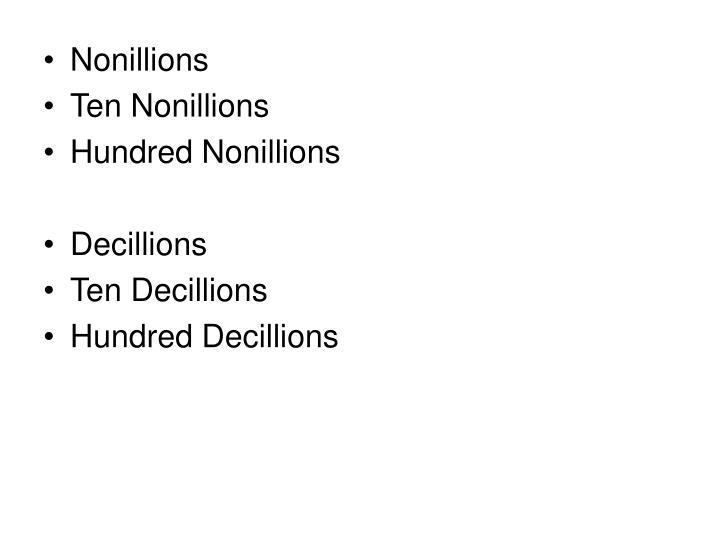 Nonillions