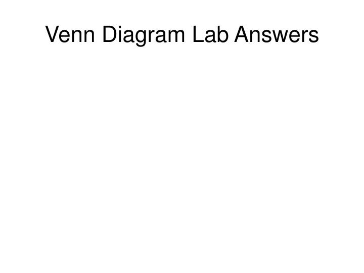 Venn Diagram Lab Answers