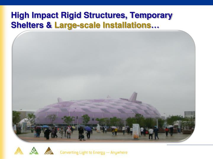 High Impact Rigid Structures, Temporary Shelters &