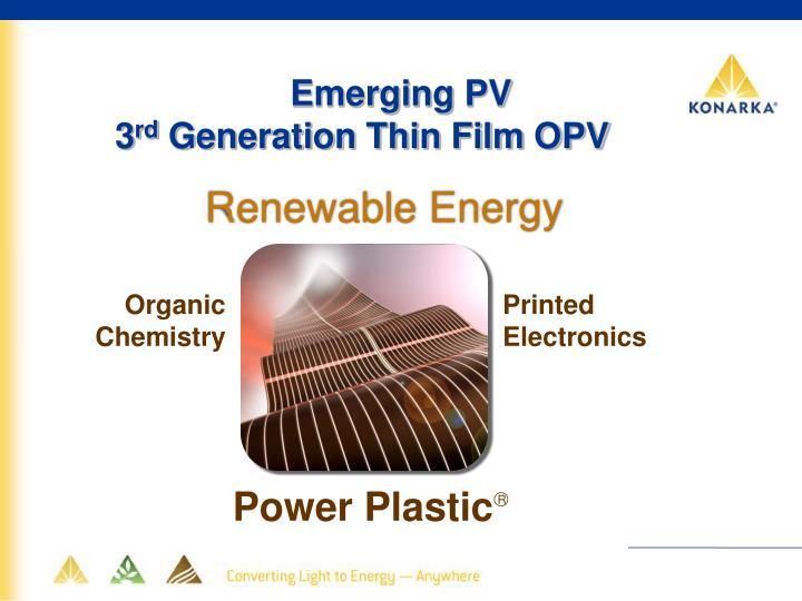 Emerging PV