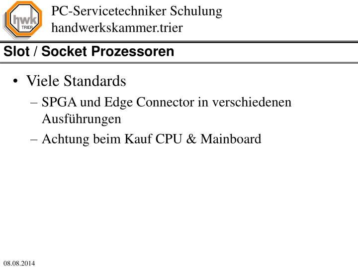 Slot / Socket Prozessoren