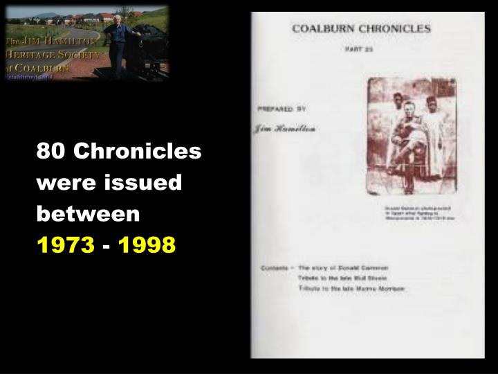 80 Chronicles were issued between