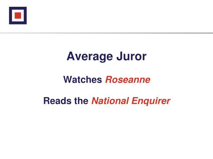 Average Juror